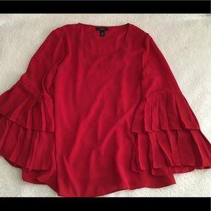 Alfani NWT medium red blouse